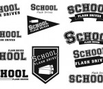 School Flash Drives Logos
