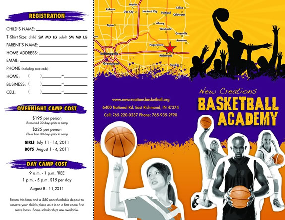 Summer Basketball Camp Brochure - Design by Sozo Creative