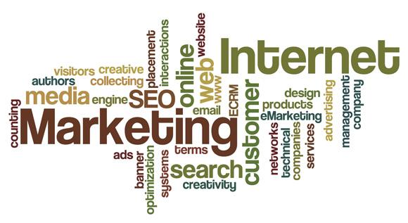 internet marketing word chart