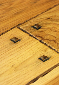 Rehmeyer Authentic Hand Scraped Hickory Flooring with Wood Pegs