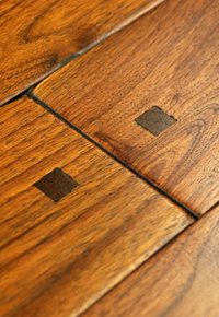 Rehmeyer Old Trail Rustic Walnut Flooring with Pegs