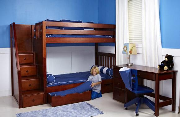 bunk bed chestnut