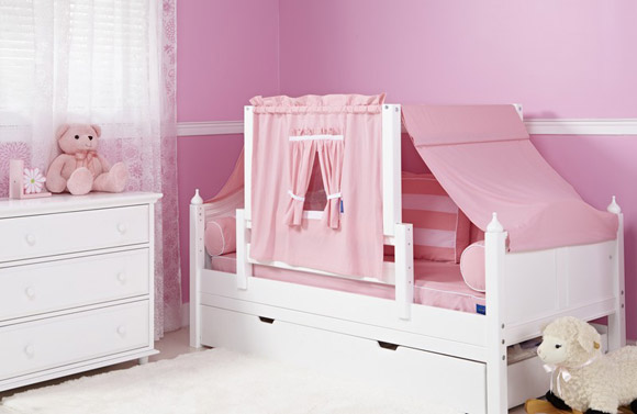 toddler daybed for girls pink and white