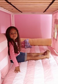 inside loft bed play area